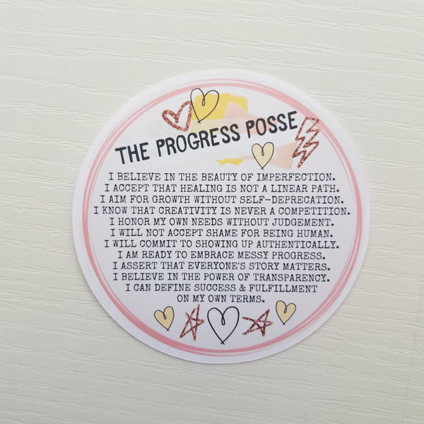 Die Cut - Progress Posse Pledge - Peel & Heal Studio-Die Cut