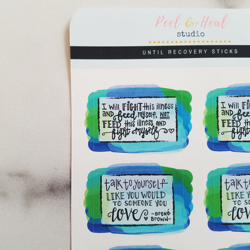 Eating Disorder Recovery Quote Boxes - Peel & Heal Studio-Stickers