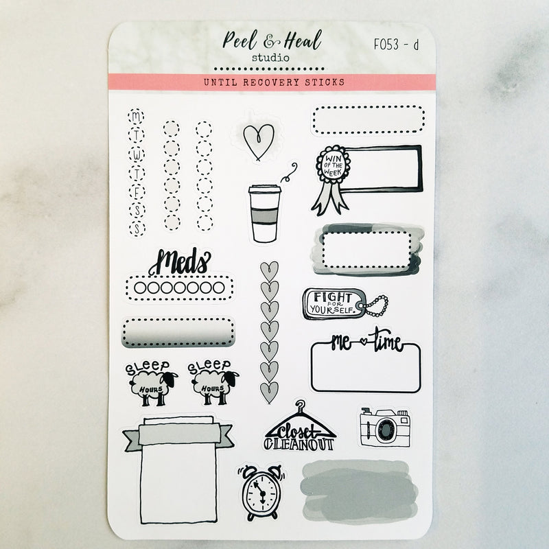 Functional Sampler - 5 color options - Peel & Heal Studio-Stickers