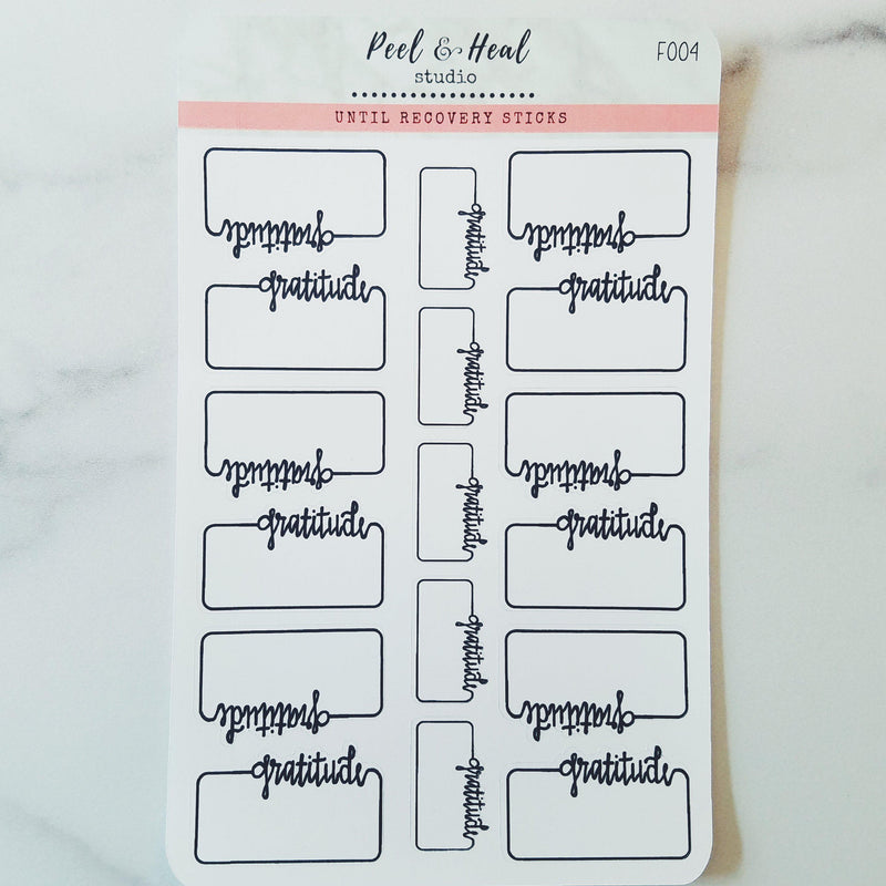 Gratitude Boxes - Peel & Heal Studio-Stickers