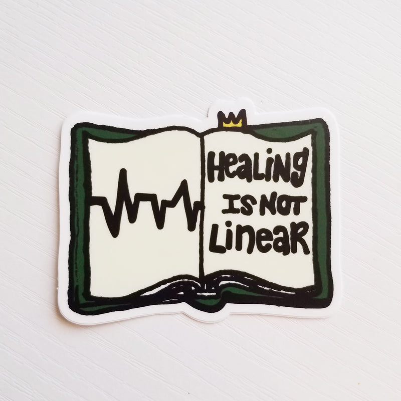 Healing Is Not Linear - Hand Drawn Decal - Peel & Heal Studio-Decal