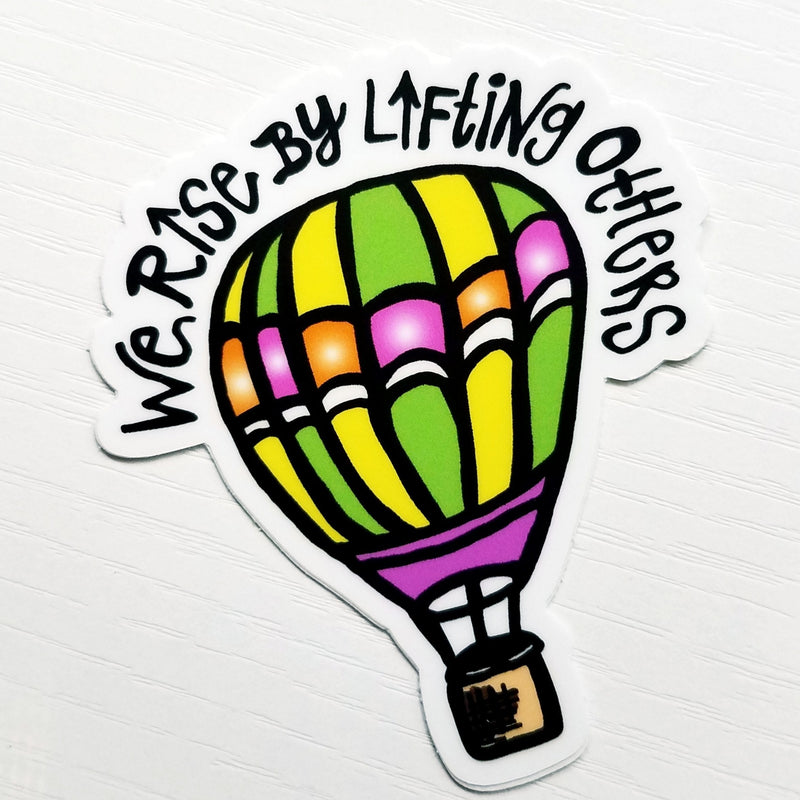 "Hot Air Balloon ""Rise"" Decal - Peel & Heal Studio-Decal"