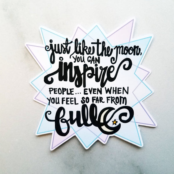 Inspirational Moon Die Cut - Peel & Heal Studio-Die Cut