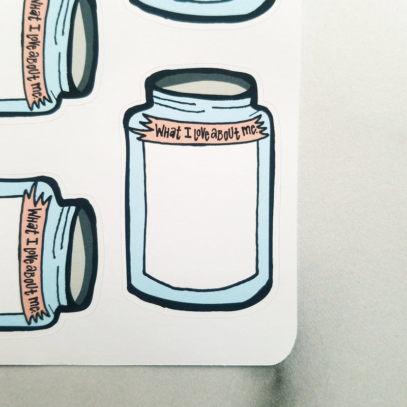 Jars of Self-Love - Peel & Heal Studio-Stickers