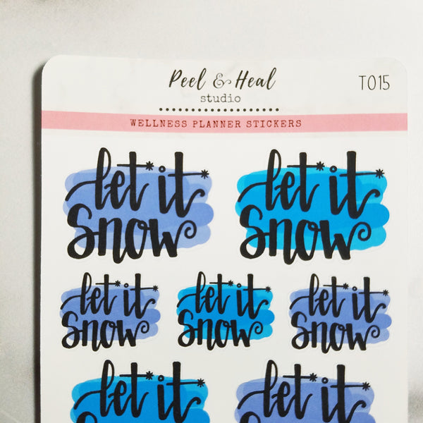 Let it Snow Hand Lettering - Peel & Heal Studio-Stickers