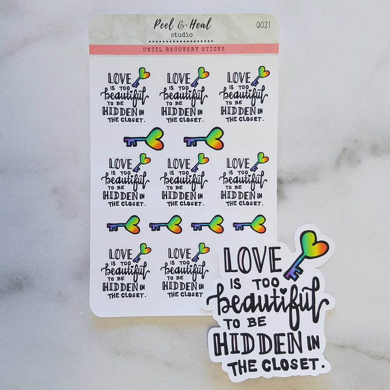 Love is Beautiful: Stickers or Die Cut - Peel & Heal Studio-Multi