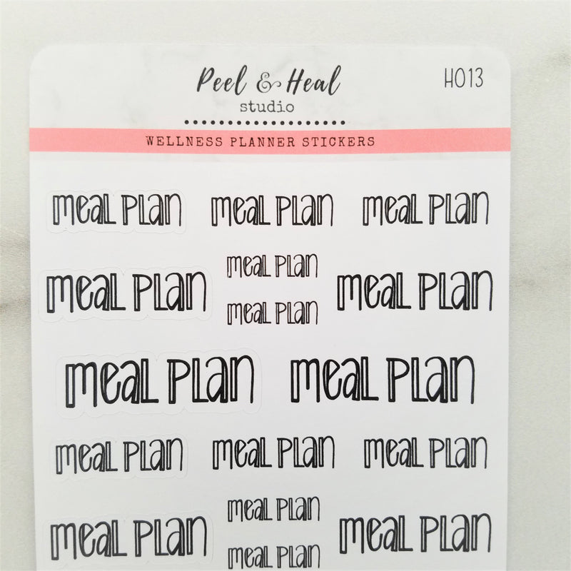 Meal Plan - Peel & Heal Studio-Stickers