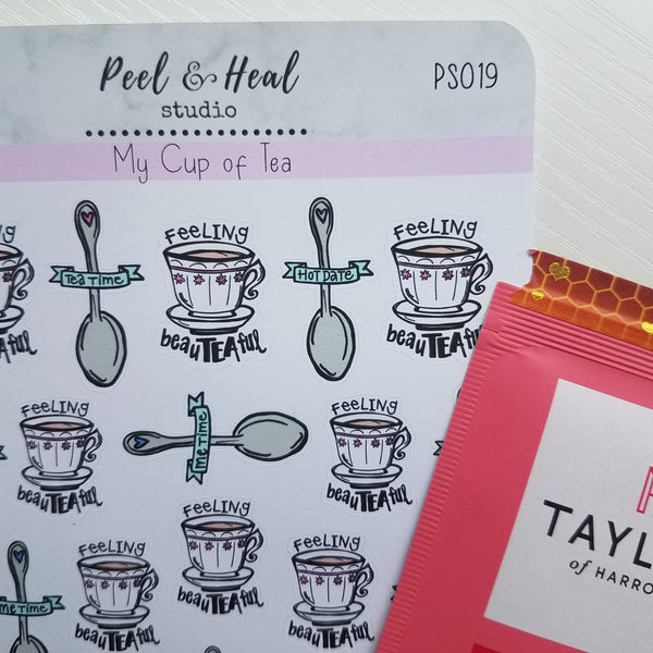 My Cup of Tea: Sticker Sheets - Peel & Heal Studio-Stickers