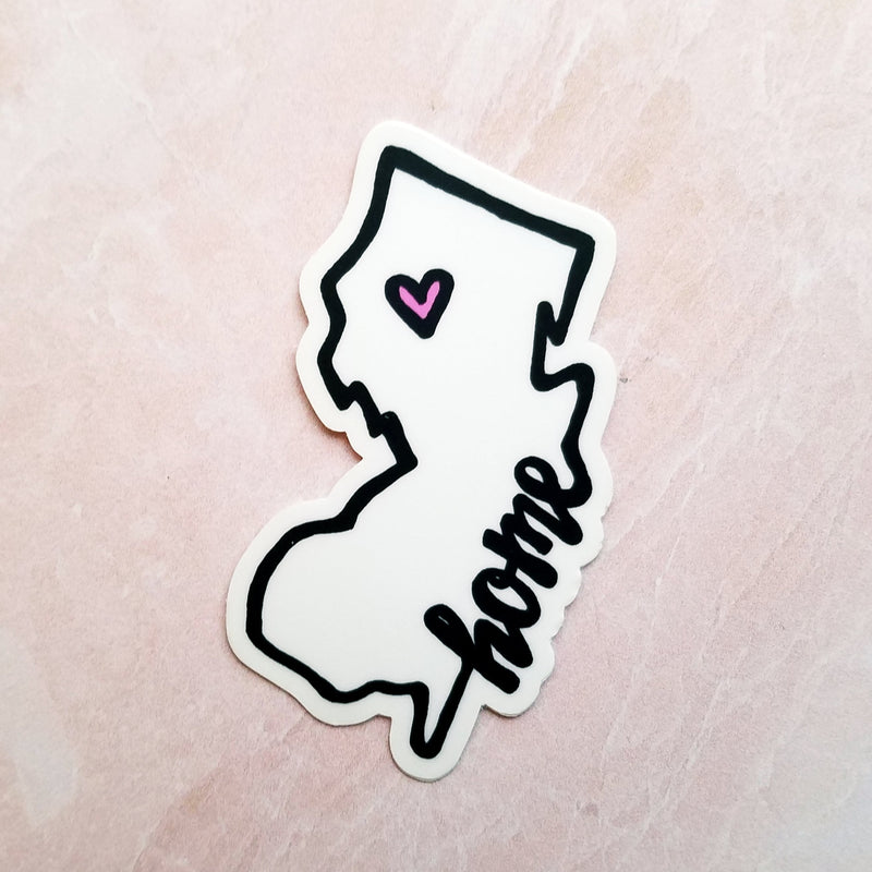 "New Jersey ""Home"" Vinyl Decal - Peel & Heal Studio-Decal"