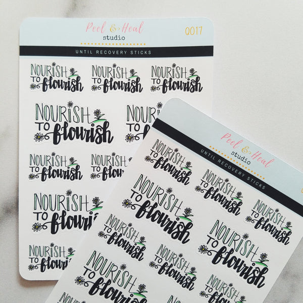 Nourish to Flourish - Peel & Heal Studio-Stickers