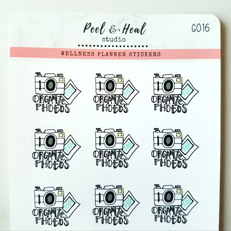 Organize Photos Doodle - Peel & Heal Studio-Stickers