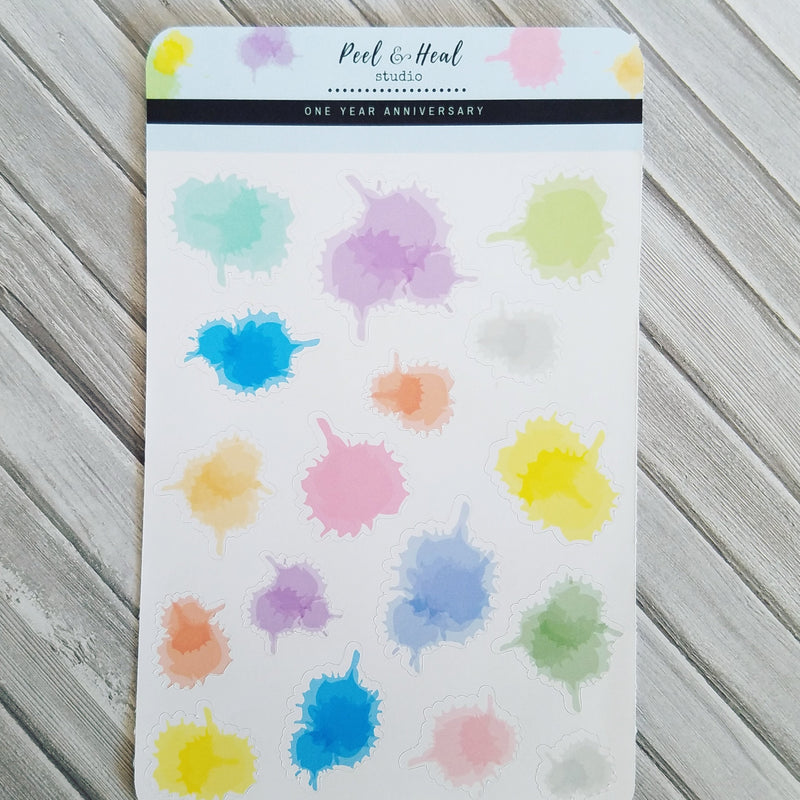 Paint Splatters - Peel & Heal Studio-Stickers