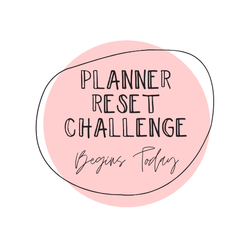 Planner Reset Challenge stickers - October 2020 - Peel & Heal Studio-Prompts
