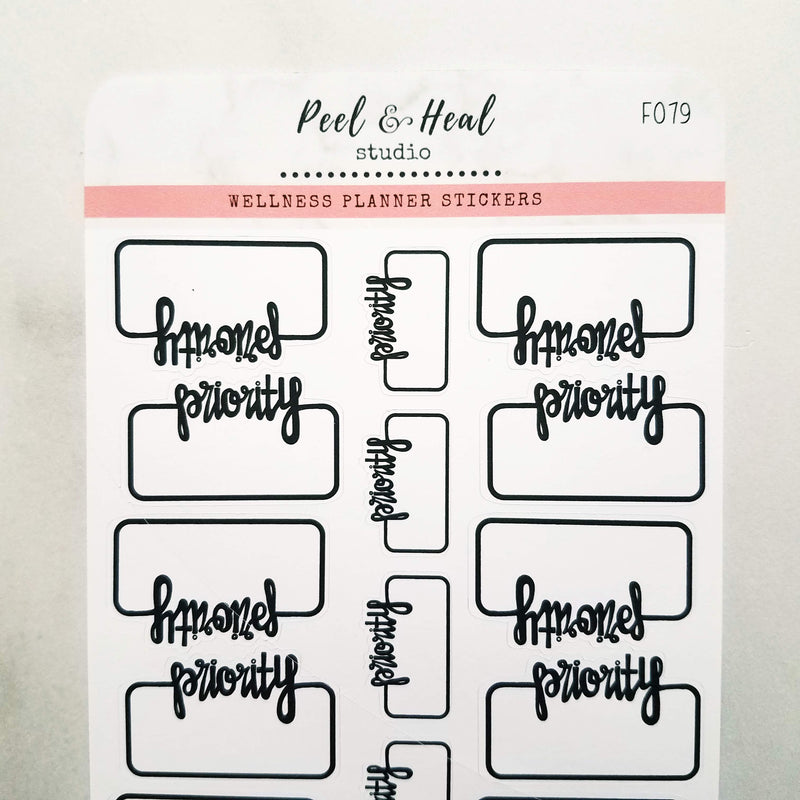 Priority Script Boxes - Peel & Heal Studio-Stickers