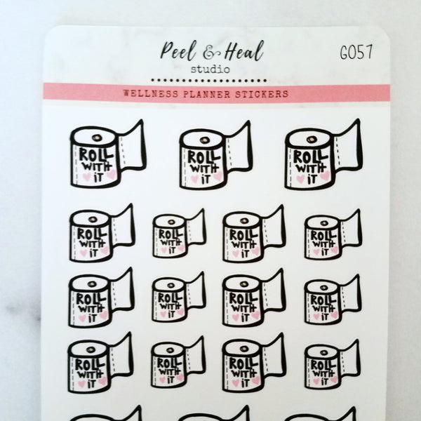 Roll With It - Peel & Heal Studio-Stickers
