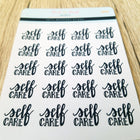 Self Care (hand-lettered) - Peel & Heal Studio-Stickers