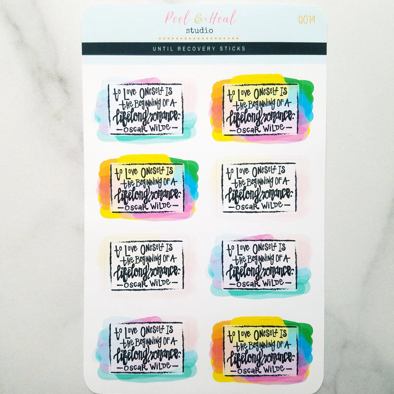 Self Love Quote Boxes - 4 Variations - Peel & Heal Studio-Stickers