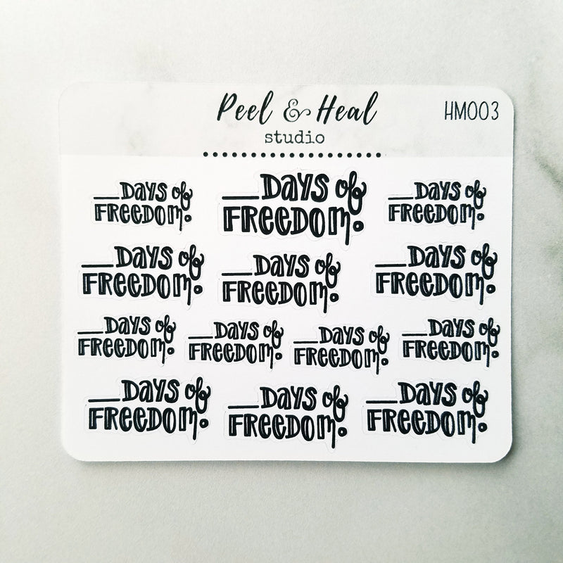 Simply Lettered - Mini Sticker Sheets - Peel & Heal Studio-Stickers