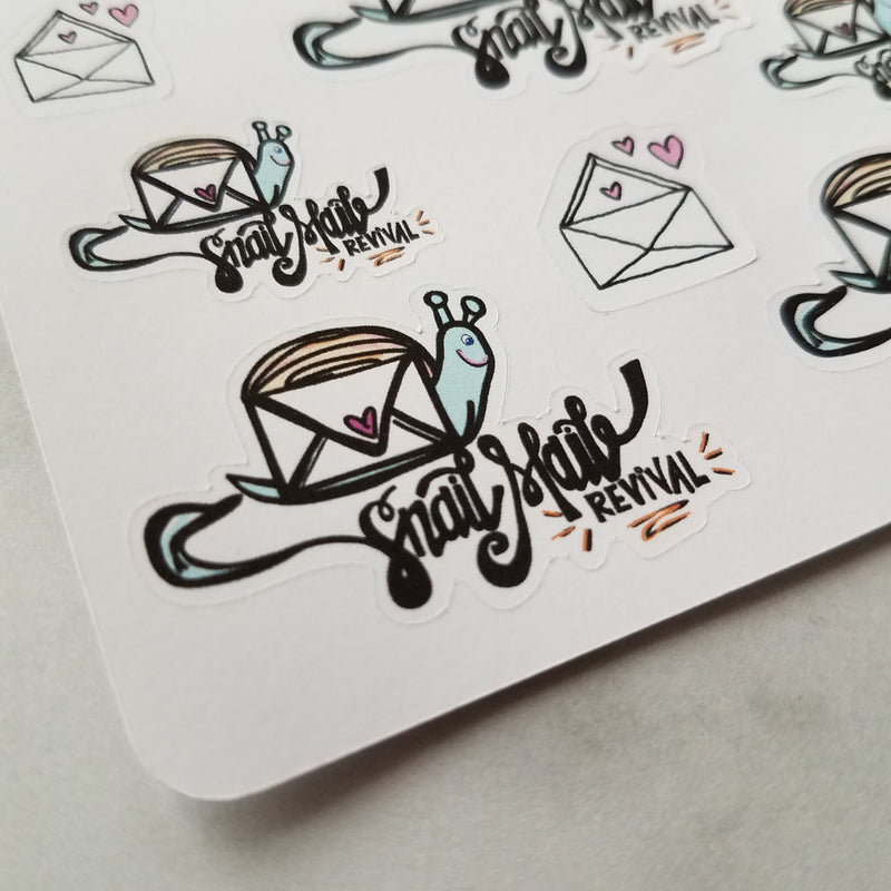 Snail mail Revival - Peel & Heal Studio-Stickers