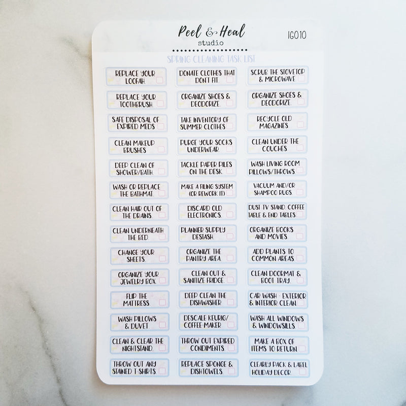 Spring Cleaning Task List - Peel & Heal Studio-