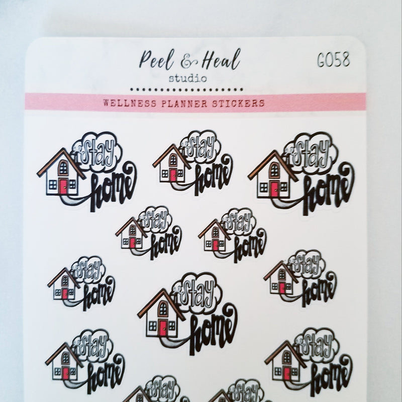 Stay Home - Peel & Heal Studio-Stickers