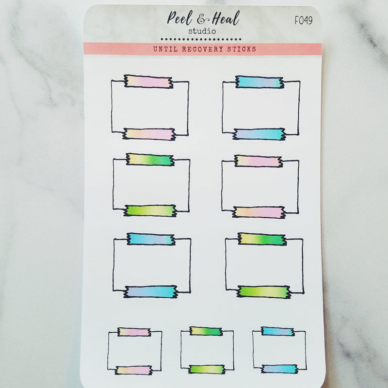 Sticky Note Doodle Stickers - 3 color options - Peel & Heal Studio-Stickers