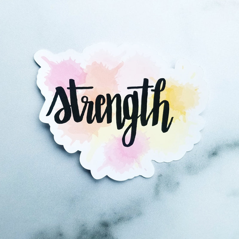 Strength Watercolor - Peel & Heal Studio-Die Cut