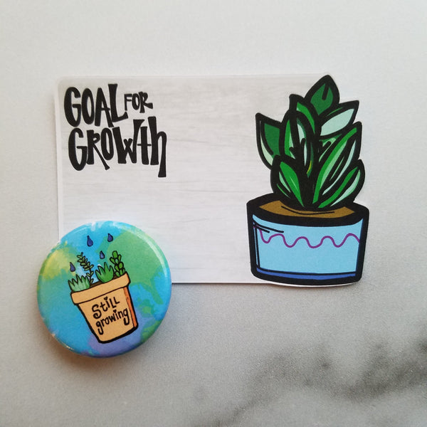 Succulent Growth Die Cut & Button Set - Peel & Heal Studio-Multi