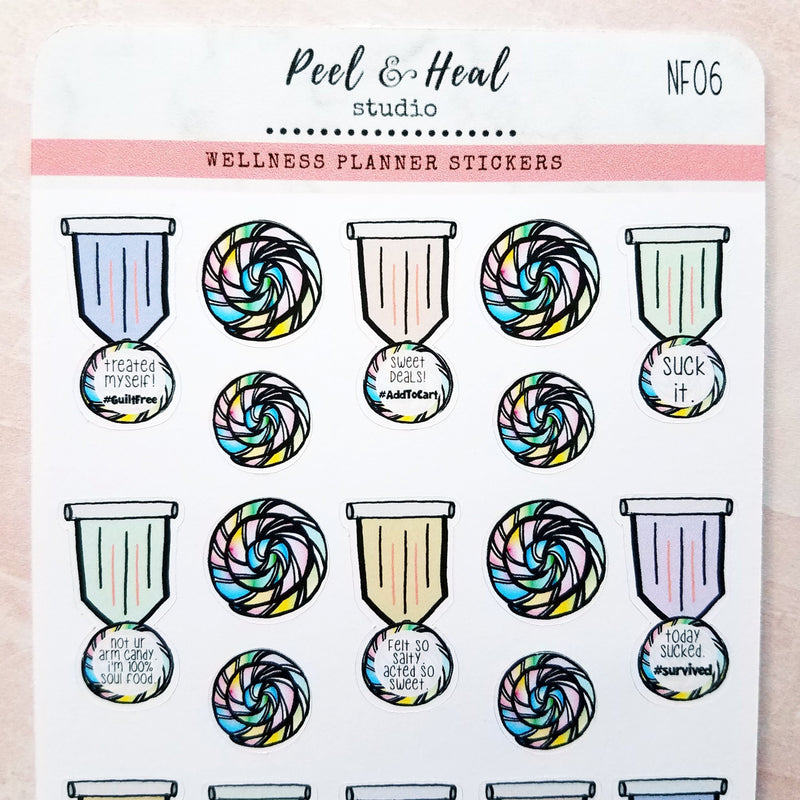 Sweet & Salty Medals - Peel & Heal Studio-Stickers