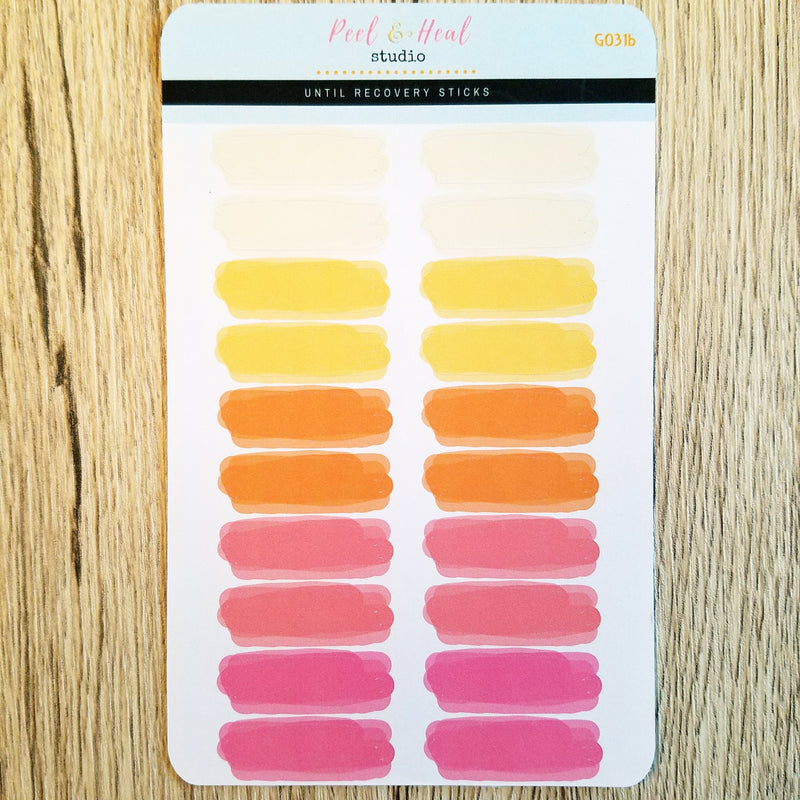 Thin Watercolor Splashes - 4 color options - Peel & Heal Studio-Stickers