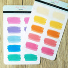 Wide Watercolor Splashes - 4 color options - Peel & Heal Studio-Stickers
