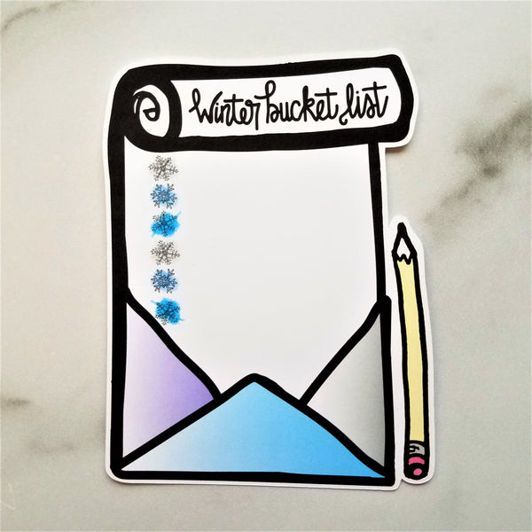 Winter Bucket List Die Cut - Peel & Heal Studio-Die Cut