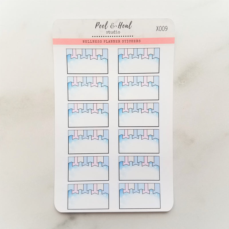 Winter Decorative Half-Box Planner Stickers - Peel & Heal Studio-Stickers