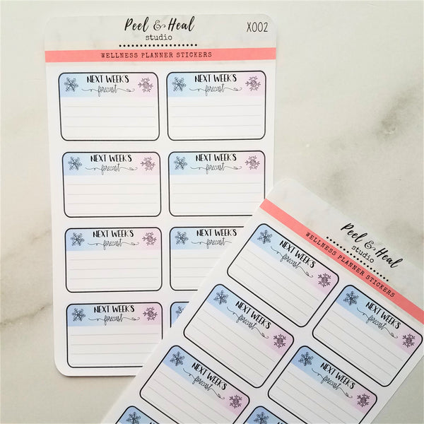 Winter Functional Planner Stickers: Next Week's Forecast - Peel & Heal Studio-Stickers