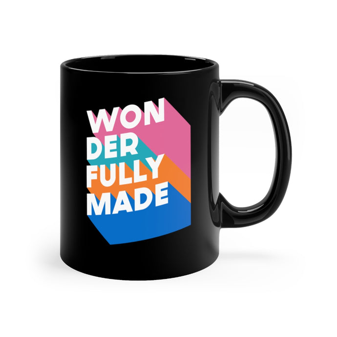 Wonderfully Made Black mug 11oz