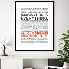 "Load image into Gallery viewer, ""Imagination is Everything"" Wall Art"