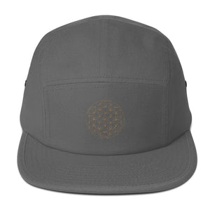 Flower Of Life | Embroidered Five Panel Cap