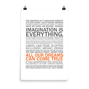 """Imagination is Everything"" Wall Art"
