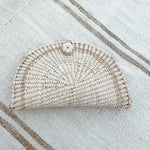 palm crescent purse //