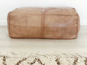 moroccan leather ottoman //