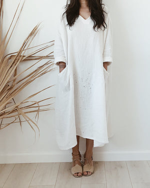double gauze pocket dress //