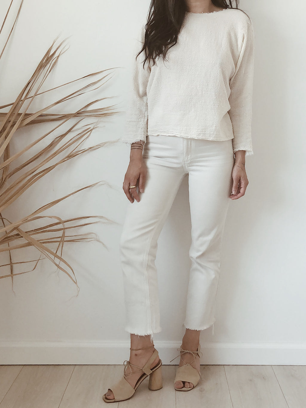 textured cotton blouse //