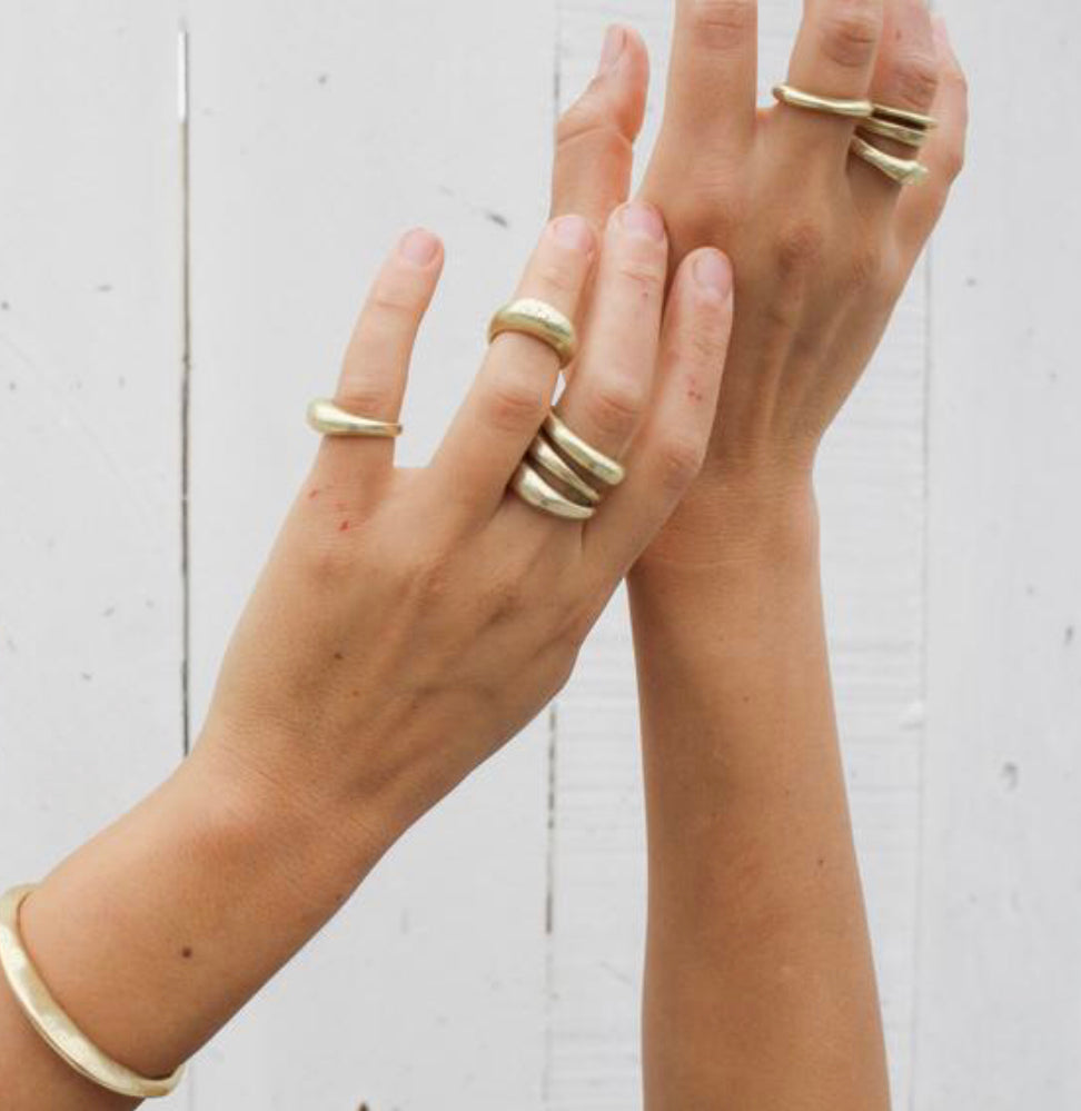 brass stacker rings style a //