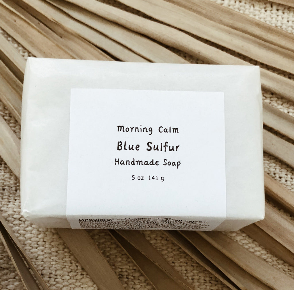 blue sulfur // handmade soap