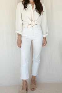 ivory silk blouse //