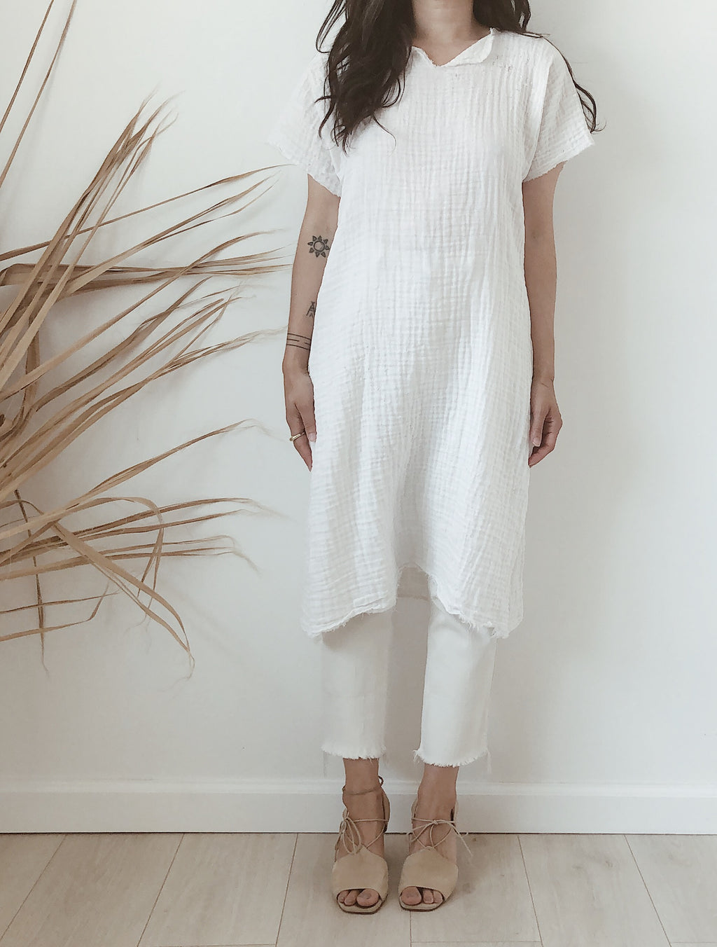 cotton gauze tunic //