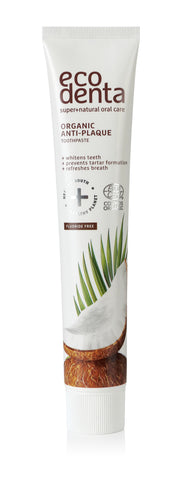 ecodenta Certified Organic Anti-plaque toothpaste with coconut oil - 8 x 75 ml