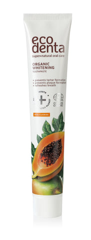 ecodenta Certified Organic Whitening toothpaste with papaya - 8 x 75 ml