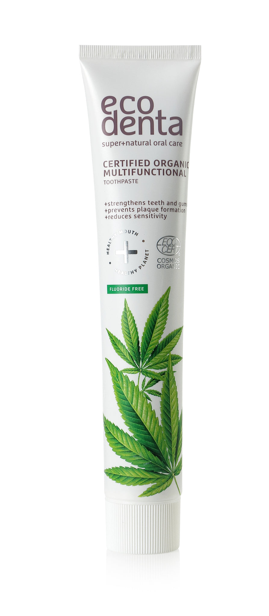 ecodenta Certified Organic Multifunctional toothpaste with hemp seed oil - 8 x 75 ml