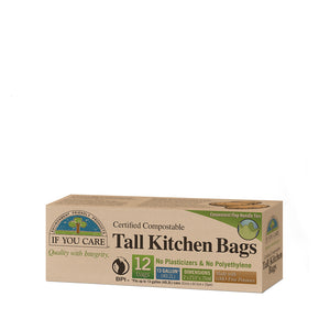 Compostable Tall Kitchen Bags - 12 x 12 bags